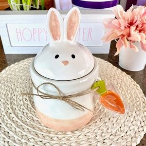 NEW cute Easter Bunny canister with carrot scoop
